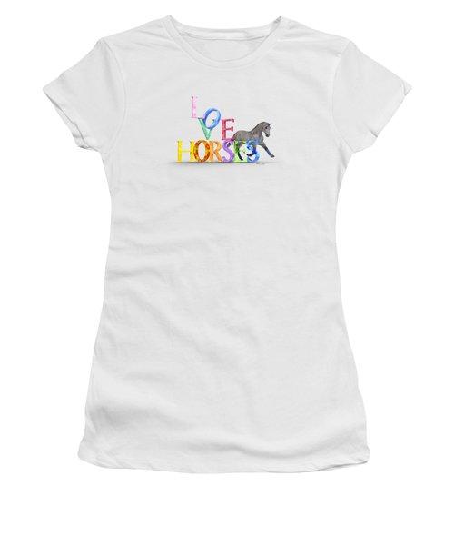 Love Horses Dapple Gray Women's T-Shirt