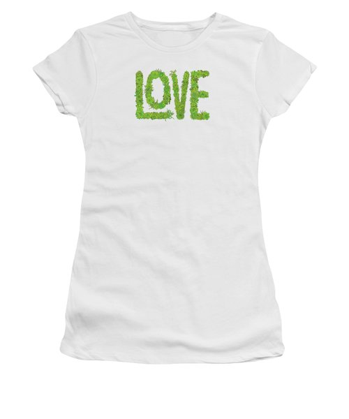 Love Succulent White Background Women's T-Shirt