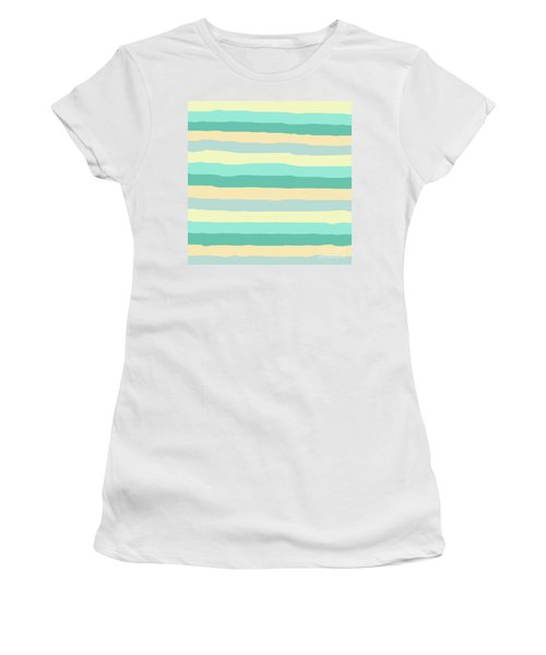 lumpy or bumpy lines abstract and summer colorful - QAB271 Women's T-Shirt