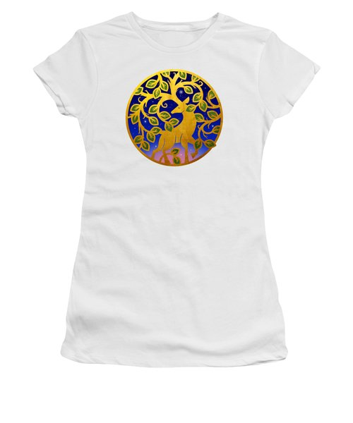 Magical Golden Stag Of The Forest At Dawn Women's T-Shirt