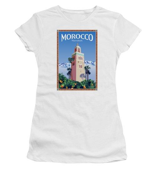 Marrakesh Travel Poster Women's T-Shirt