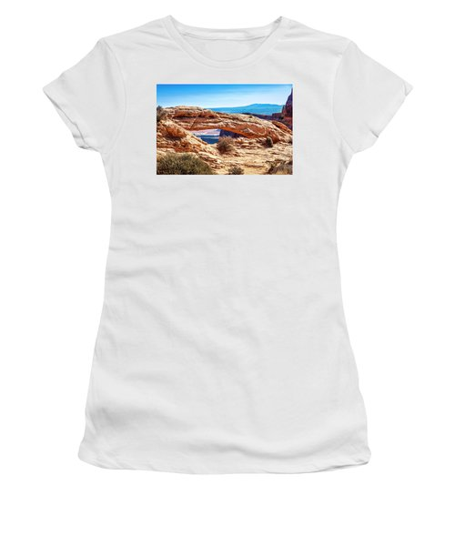 Women's T-Shirt (Athletic Fit) featuring the photograph Mesa Arch by Andy Crawford