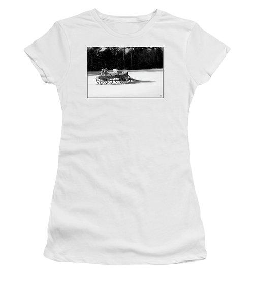 Women's T-Shirt featuring the photograph Milk Wagon Monochrome by Wayne King