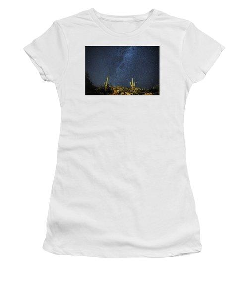 Milky Way And Cactus Women's T-Shirt