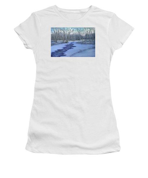 Millhaven Creek In Winter Women's T-Shirt