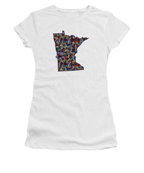Minnesota Map - 1 Women's T-Shirt