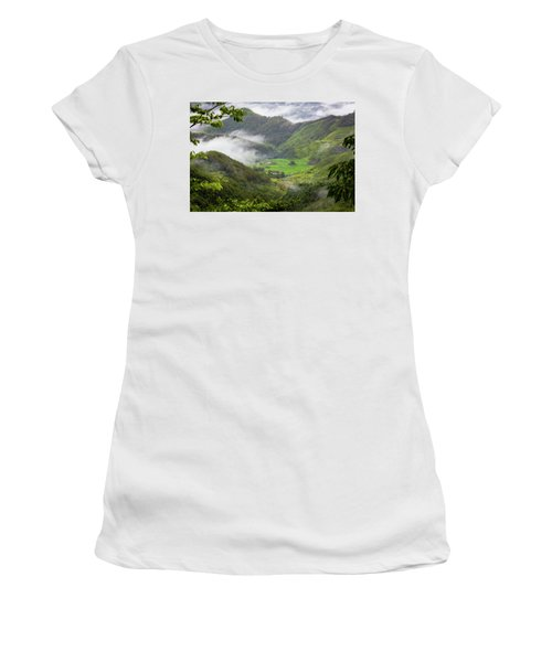 Women's T-Shirt featuring the photograph Misty Farm I by William Dickman