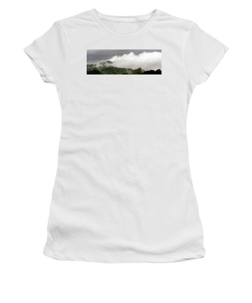 Women's T-Shirt featuring the photograph Misty Mountains II 3x1 by William Dickman