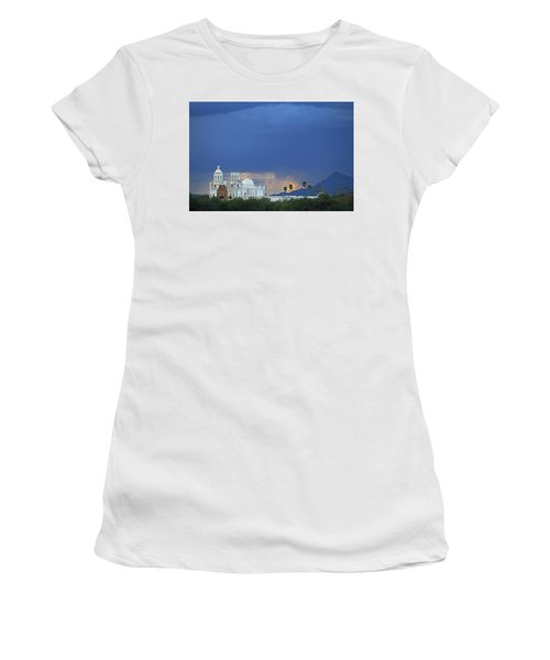 Monsoon Skies Over The Mission Women's T-Shirt
