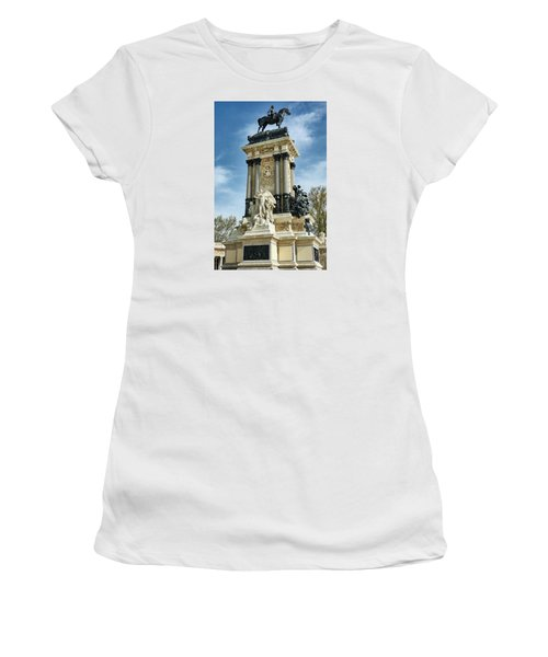 Monument To King Alfonso Xii At Retiro Park In Madrid, Spain Women's T-Shirt