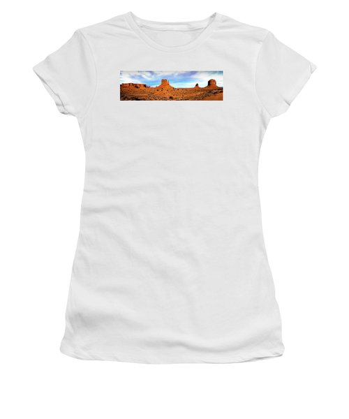 Women's T-Shirt (Athletic Fit) featuring the photograph Monument Valley by David Morefield