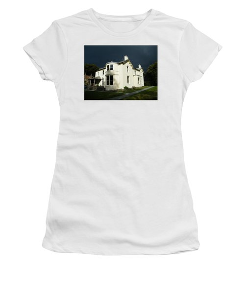 Women's T-Shirt featuring the photograph Moody Sky Over Allen Bank by JLowPhotos