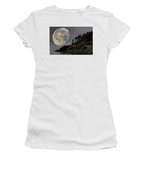 Moon And Beach Women's T-Shirt