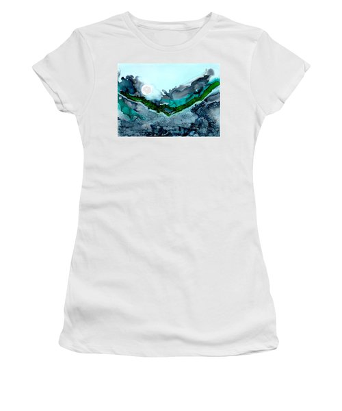 Women's T-Shirt featuring the painting Moondance IIi by Kathryn Riley Parker