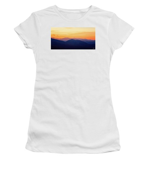 Mountain Light And Silhouette  Women's T-Shirt
