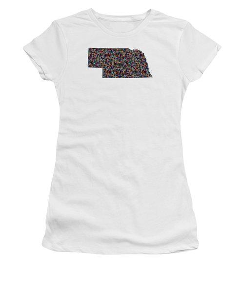 Nebraska Map - 1 Women's T-Shirt