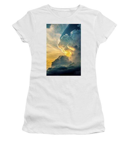 Nebraska Sunset Thunderheads 075 Women's T-Shirt