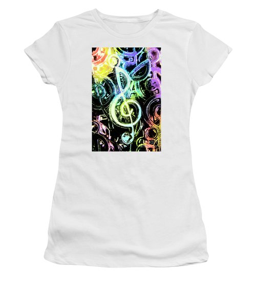 Neon Notes Women's T-Shirt