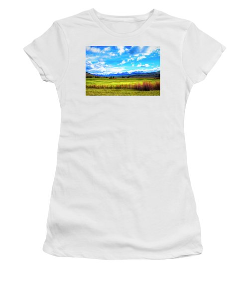 Women's T-Shirt (Athletic Fit) featuring the photograph Northwest Wyoming Afternoon by Mike Braun
