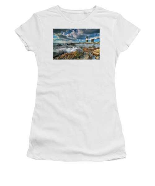 Women's T-Shirt (Athletic Fit) featuring the photograph October Morning At Marshall Point by Rick Berk