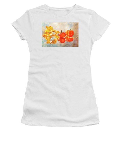 Women's T-Shirt featuring the photograph October Reflections by Randi Grace Nilsberg