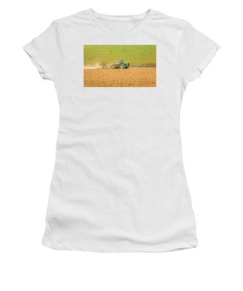 Women's T-Shirt (Athletic Fit) featuring the photograph Ohio Farmer by Dan Sproul