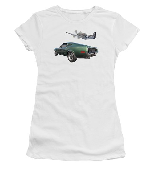 P51 With Bullitt Mustang Women's T-Shirt
