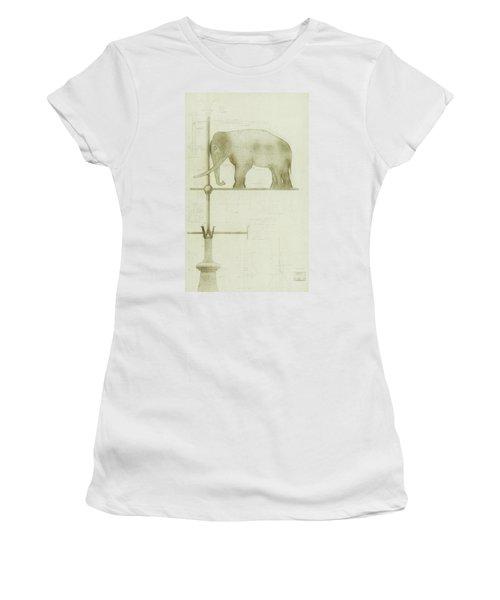 Pachyderm House, Philadelphia Zoo, Detail Of Weather Vane Women's T-Shirt
