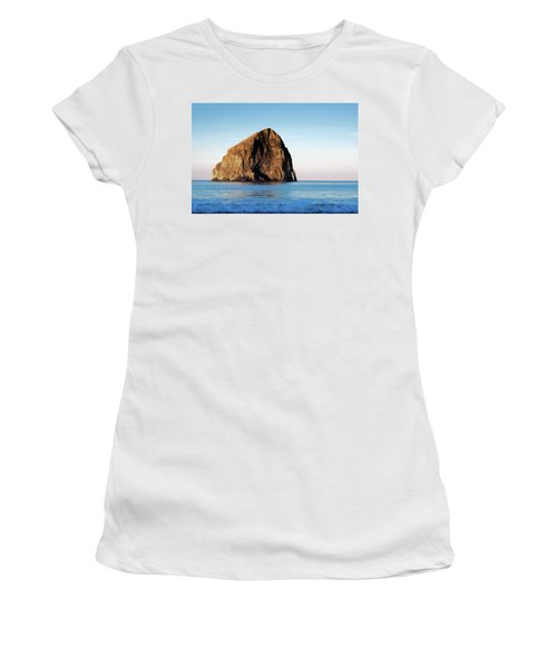 Women's T-Shirt (Athletic Fit) featuring the photograph Pacific City Cape Kiwanda 101618 by Rospotte Photography