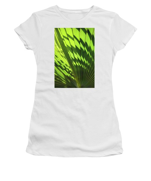 Women's T-Shirt (Athletic Fit) featuring the photograph Palm Portrait Iv by Leda Robertson