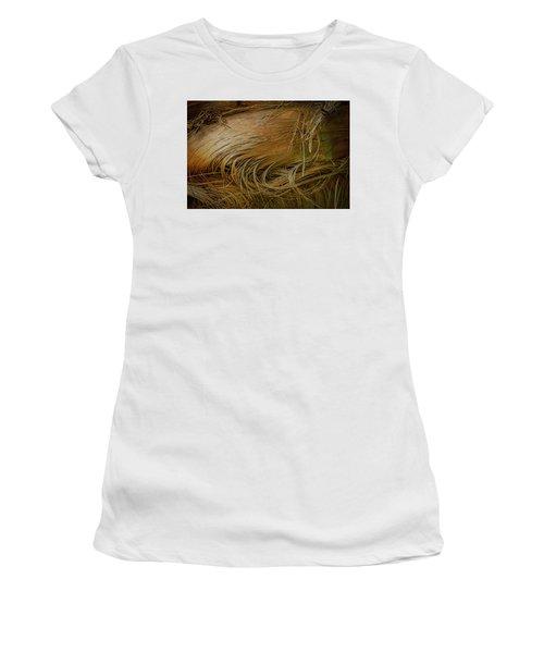 Palm Tree Straw Women's T-Shirt