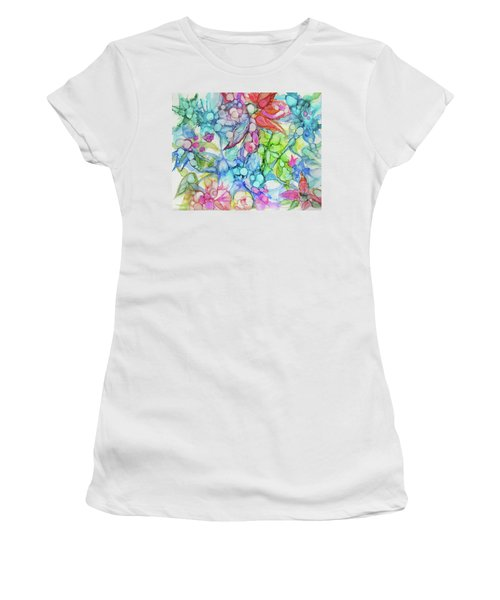 Pastel Flowers - Alcohol Ink Women's T-Shirt