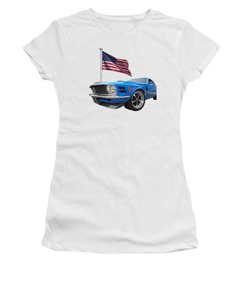 Patriotic Boss Mustang Women's T-Shirt