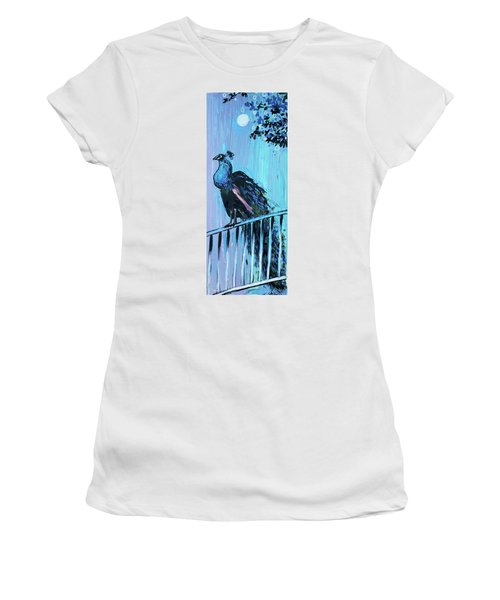Peacock On A Fence Women's T-Shirt