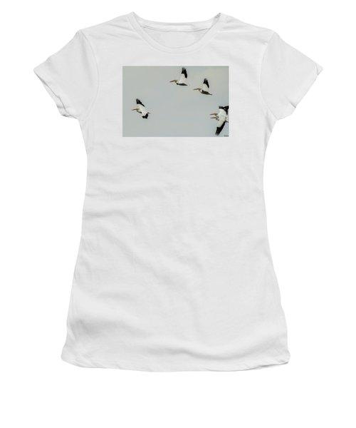 Pelicans In Flight Women's T-Shirt