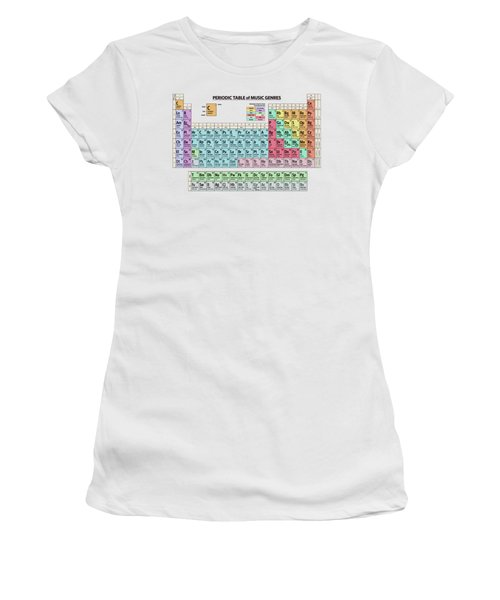 Periodic Table Of Music Genres Women's T-Shirt
