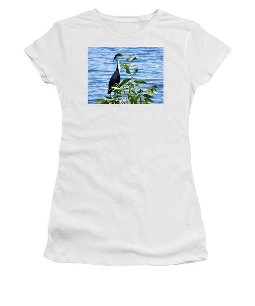 Pied Heron Tree Women's T-Shirt