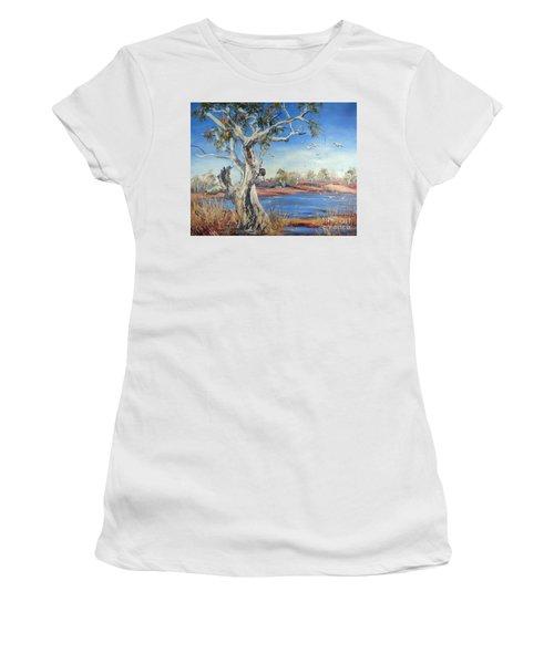 Women's T-Shirt featuring the painting Pilbara, Western Australia by Ryn Shell