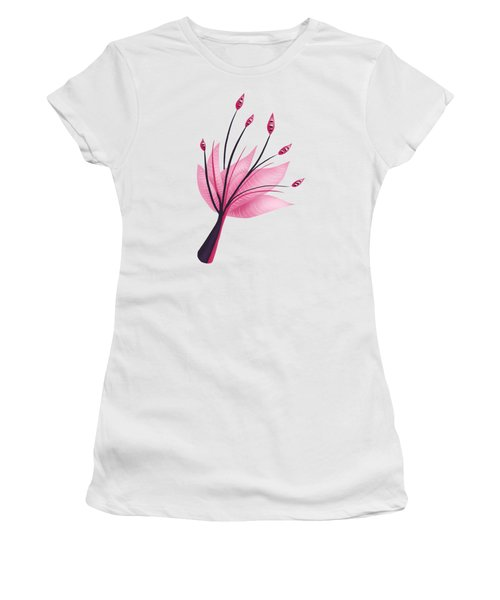 Pink Abstract Lily Flower Women's T-Shirt