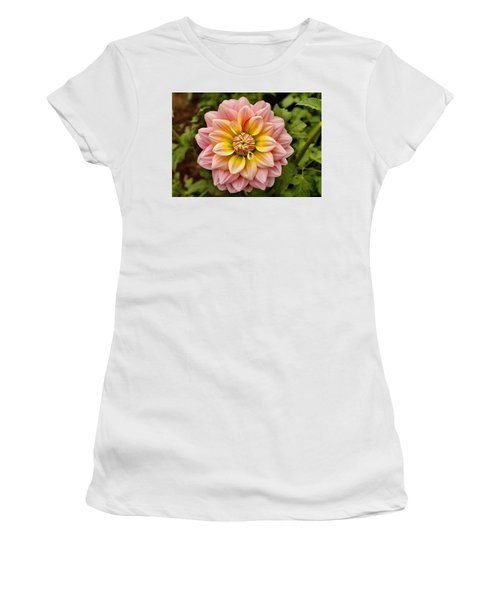 Pink And Yellow Women's T-Shirt
