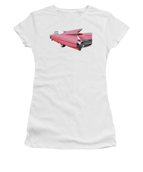 Pink Cadillac Tail Fins At Sunset Women's T-Shirt