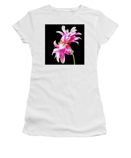 Pink Dahlia Profile Women's T-Shirt