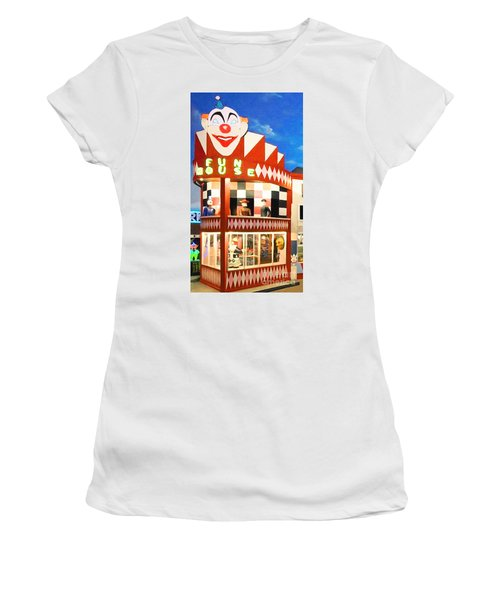 Women's T-Shirt featuring the photograph Playland At The Beach Fun House San Francisco Nostalgia 20181224 by Wingsdomain Art and Photography