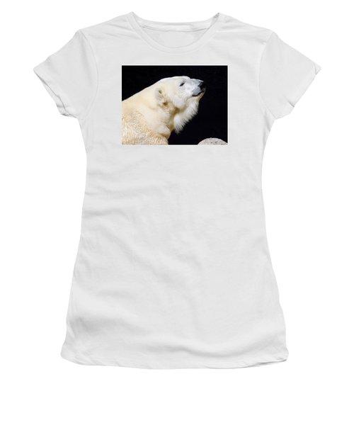Women's T-Shirt featuring the photograph Polar Bear by Dan Miller