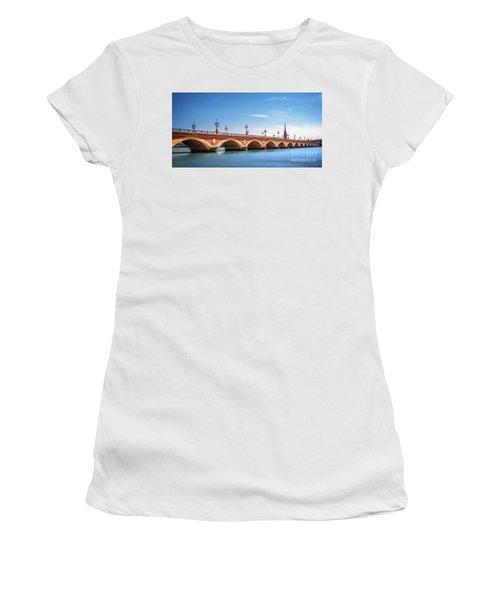 Pont De Pierre In Bordeaux Women's T-Shirt