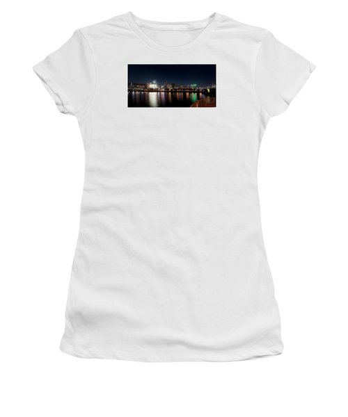 Women's T-Shirt (Athletic Fit) featuring the photograph Portland Oregon Skyline 102118 by Rospotte Photography