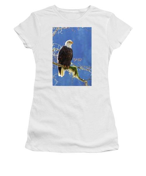 Portrait Of A Backlit Bald Eagle In Squamish Women's T-Shirt