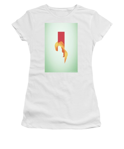 Powder Bone Flare - Surreal Abstract Elephant Bone Collage With Rectangle Women's T-Shirt