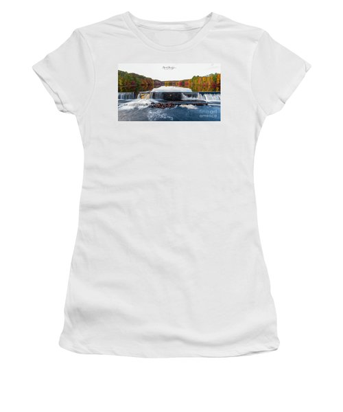 Women's T-Shirt (Athletic Fit) featuring the photograph Power Of The Shetucket by Michael Hughes