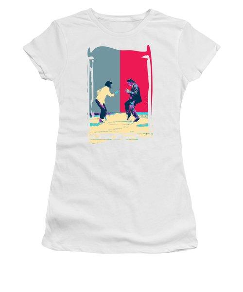 Pulp Fiction Revisited - Vincent Vega And Mia - The Dance Women's T-Shirt